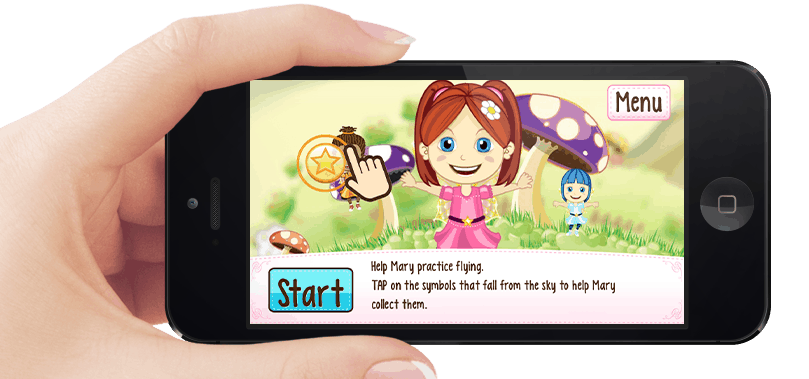 Mary The Fairy Mobile Mockup Adventure Screen