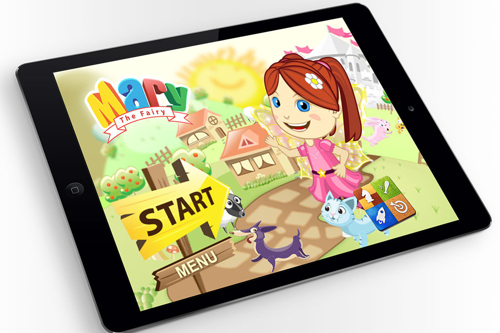 Mary The Fairy iPad Mockup