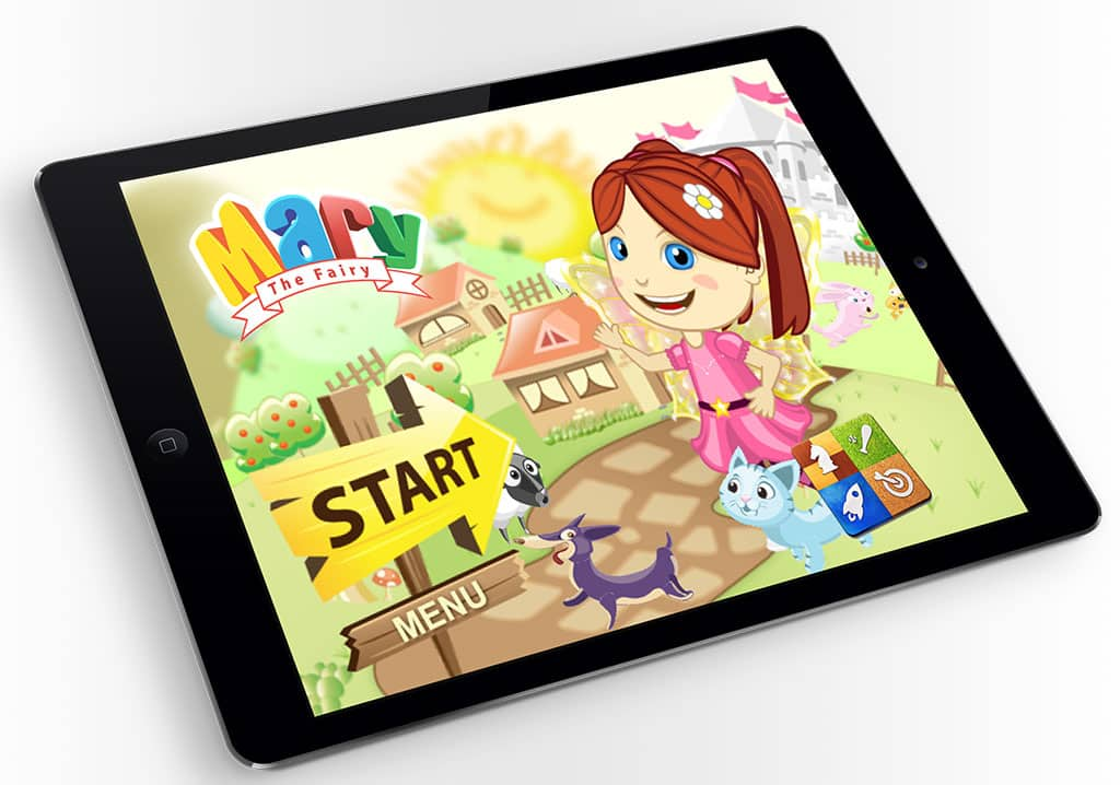 Mary The Fairy iPad Mockup